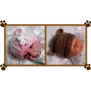 37 - Bear Ears Beanie Hat Crochet Pattern