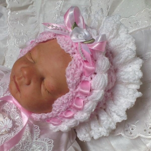 01 - Frilly Crochet Bonnet Pattern For Baby Girls