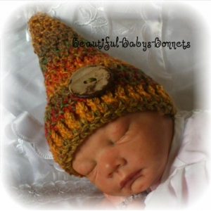 45 - Gnome Hat Newborn Photo Prop Crochet Pattern