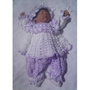 05 - Angel Top, Bloomers, Headband & Booties Set Crochet Pattern