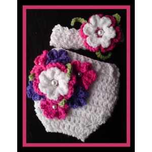 39 - Nappy/Diaper Cover & Headband Crochet Pattern
