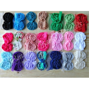 Shabby Bows - Grab Bag of 10 Chiffon Trim