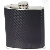 6oz Hip Flask- Carbon Fibre