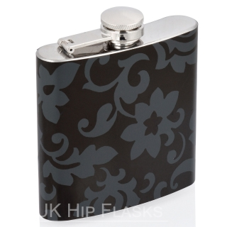 6oz Hip Flask- Black Fl..