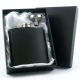6oz Hip Flask in Black with Gift Box