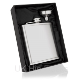 6oz Lipped Hip Flask in Gift Box