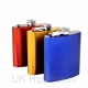 Multicoloured Metallic Hip Flasks
