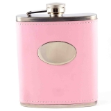 29 x 7oz Leather Hip Flasks - Pink and..