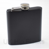 6oz Hip Flask in Black