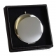Silver Compact Mirror in Gift Box