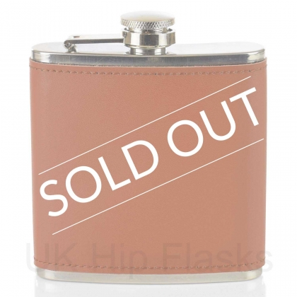 Leather 6oz Flask Tan