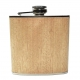 Light Wood Hip Flask