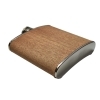 6oz Wood Hip Flask - Dark