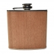 Dark Wood Hip Flask
