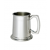 Double line Pewter Tankard with Plain ..