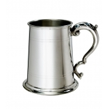 Double line Pewter Tankard with Georgi..