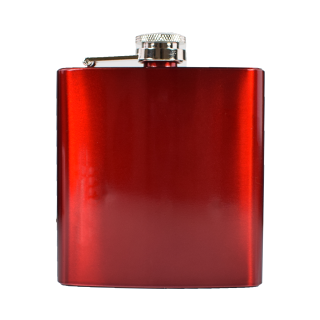 Metallic Hip Flask - Red