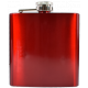 Red Metallic Hip Flask