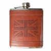 PU Leather 8oz UK Flag Hip Flask