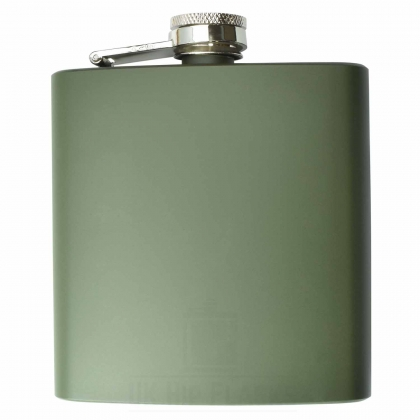 6oz Army Green Hip Flask