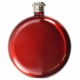 Round Red Hip Flask