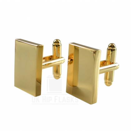 Rectangle Cufflinks in Gold