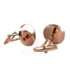 Round Cufflinks in Rose Gold