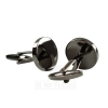 Round Cufflinks in Black