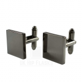 Square Cufflinks in Black