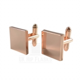 Square Cufflinks in Rose Gold