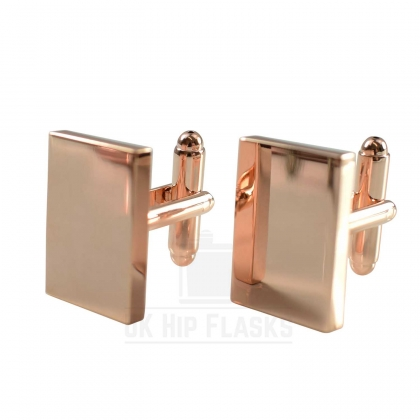 Rectangle Cufflinks in Rose Gold