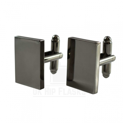 Rectangle Cufflinks in Black