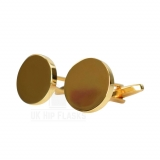 Round Cufflinks in Gold