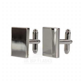 Rectangle Cufflinks in Silver