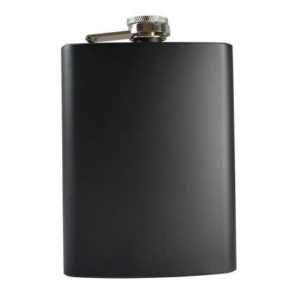 8oz Matt Black Hip Flask