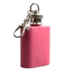 Mini Hip Flask Keyring in Pink