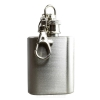 Mini Hip Flask Keyring in Steel