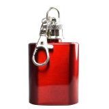 Mini Hip Flask Keyring in Red