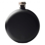 Round Hip Flask - Black