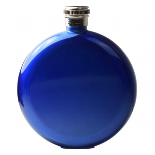 Round Hip Flask - Blue