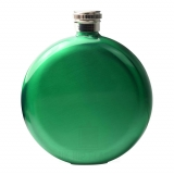 Round Hip Flask - Green