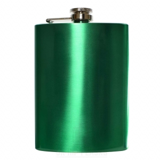 8oz Metallic Green Hip Flask