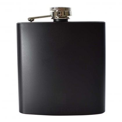 6oz Matt Black Hip Flask
