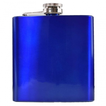 Metallic Hip Flask - Blue