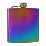 6oz Rainbow Hip Flask