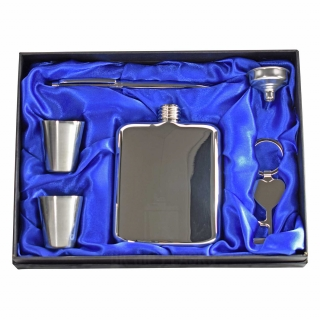 6oz Luxury Hip Flask Gift Set