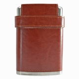 8oz PU Leather Hip Flask