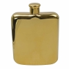 6oz Shiny Hip Flask - Gold