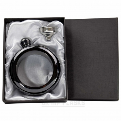 Hip Flask Bangle in Gift Box - Black