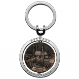 Custom Keychain with Stamped, Spinning..